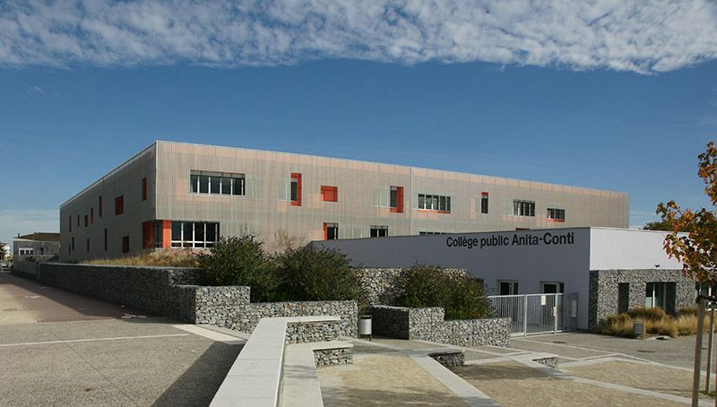 Aménagements paysagers du Collège Anita Conti
